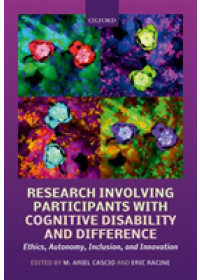 Research Involving Participants with Cognitive Disability and Differences   , ISBN:  9780198824343