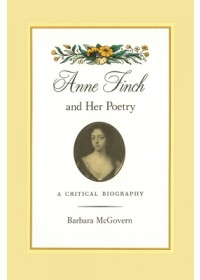 Anne Finch and Her Poetry   McGovern Barbara, ISBN:  9780820357027