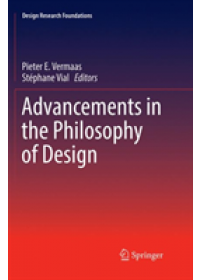 Advancements in the Philosophy of Design   , ISBN:  9783030103514