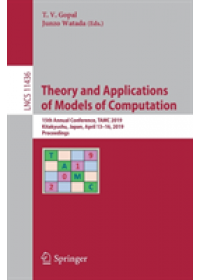 Theory and Applications of Models of Computation   , ISBN:  9783030148119