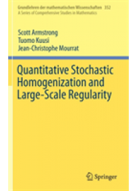 Quantitative Stochastic Homogenization and Large-Scale Regularity   Armstrong Scott, ISBN:  9783030155445