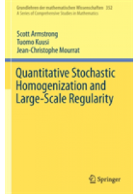 Quantitative Stochastic Homogenization and Large-Scale Regularity   Armstrong Scott, ISBN:  9783030155476