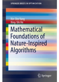 Mathematical Foundations of Nature-Inspired Algorithms   Yang Xin-She, ISBN:  9783030169350