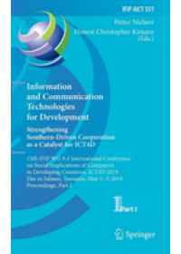 Information and Communication Technologies for Development. Strengthening Southern-Driven Cooperation as a Catalyst for ICT4D   , ISBN:  9783030183998
