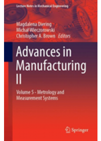 Advances in Manufacturing II   , ISBN:  9783030186814