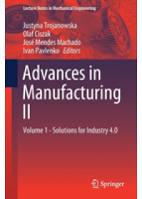 Advances in Manufacturing II   , ISBN:  9783030187149