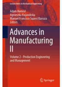 Advances in Manufacturing II   , ISBN:  9783030187880