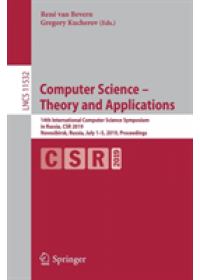 Computer Science - Theory and Applications   , ISBN:  9783030199548