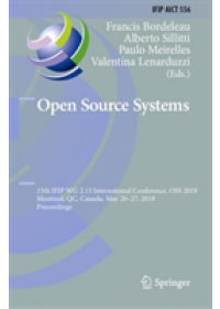 Open Source Systems   , ISBN:  9783030208820