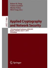 Applied Cryptography and Network Security   , ISBN:  9783030215675