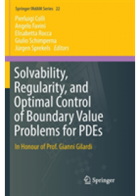Solvability, Regularity, and Optimal Control of Boundary Value Problems for PDEs   , ISBN:  9783319878041
