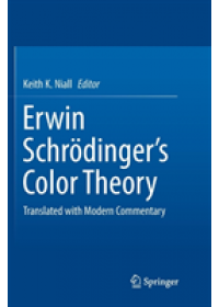 Erwin Schroedinger's Color Theory   , ISBN:  9783319878379