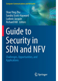 Guide to Security in SDN and NFV   , ISBN:  9783319878447