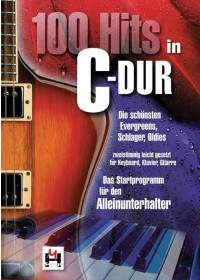 100 Hits in C-Dur - Band 1   , ISBN:  9783865438010