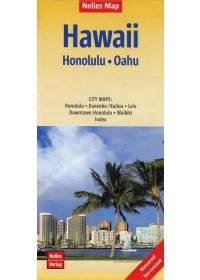 Nelles Map Hawaii: Honolulu, Oahu 1 : 150 000   , ISBN:  9783865745354