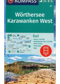 Wörthersee, Karawanken West 1:50 000   , ISBN:  9783990447284