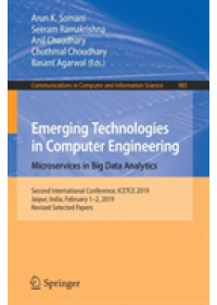 Emerging Technologies in Computer Engineering: Microservices in Big Data Analytics   , ISBN:  9789811382994