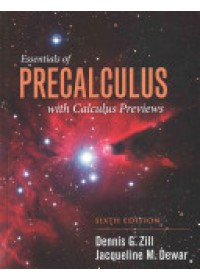 Essentials of Precalculus with Calculus Previews   Zill Dennis G., ISBN:  9781284056327