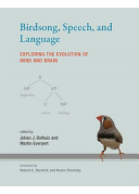 Birdsong, Speech, and Language: Exploring the Evolution of Mind and Brain   Bolhuis Johan J., ISBN:  9780262528849