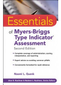 Essentials of Myers-Briggs Type Indicator Assessment   Quenk Naomi L., ISBN:  9780470343906